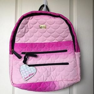 Betsey Johnson Pink Mermaid Backpack